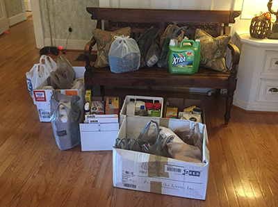 KT Rally 2016 Service Project: Clubs from all over Kentucky and Tennessee donated household goods to the Ronald McDonald House.