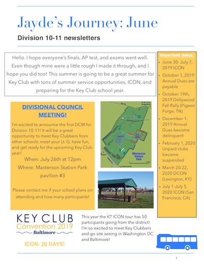 K-T District | Kentucky-Tennessee District of Key Club